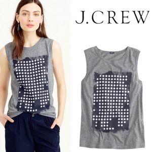 JCrew l Dotted Graphic Tank Top